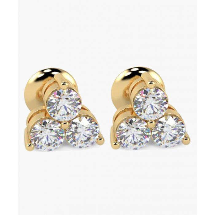 Image for 18k yellow gold and 0.40ct triple diamond earrings