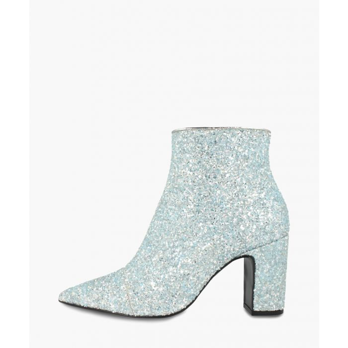 Image for Blue leather glittered ankle boots