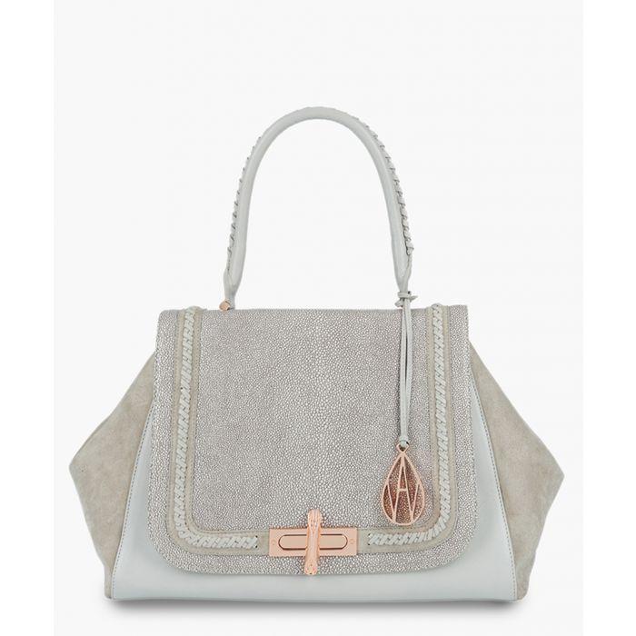 Image for Cagney grey leather shoulder bag
