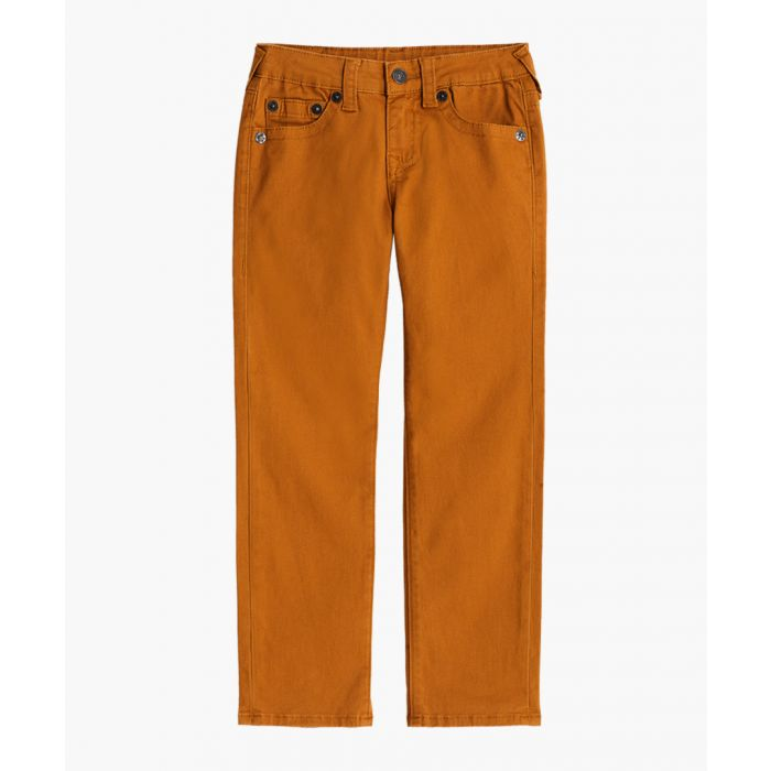 Image for Boys Geno gold-tone cotton blend jeans