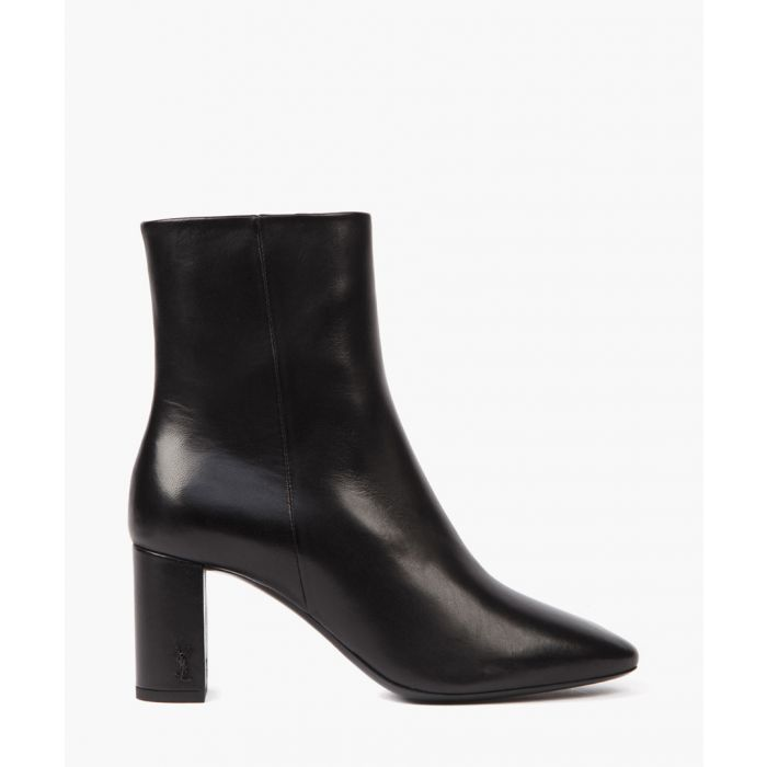 Image for Lou black leather ankle boots