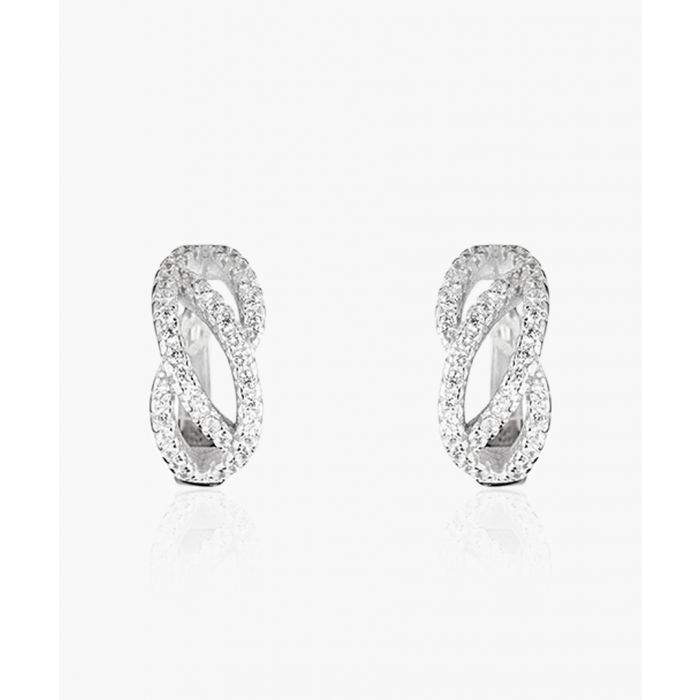 Image for Sweet creole wave rose gold-plated earrings