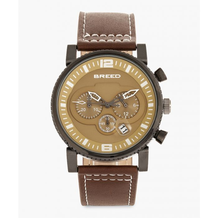 Image for Ryker leather chronograph watch