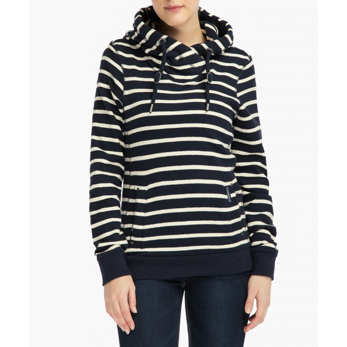 Image for Striped cotton hoodie