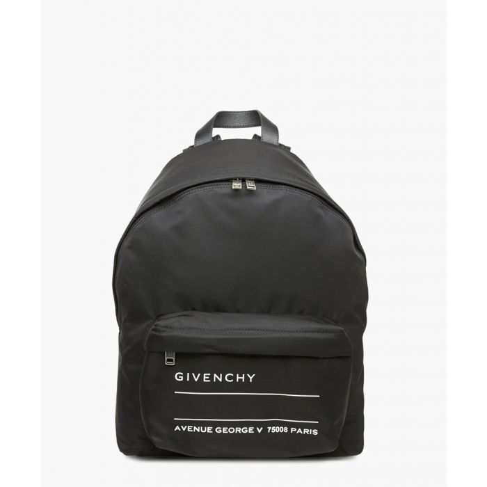Image for Black and white logo backpack