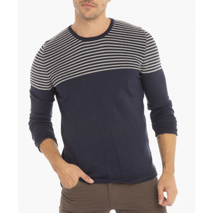 Image for Navy and grey jumper
