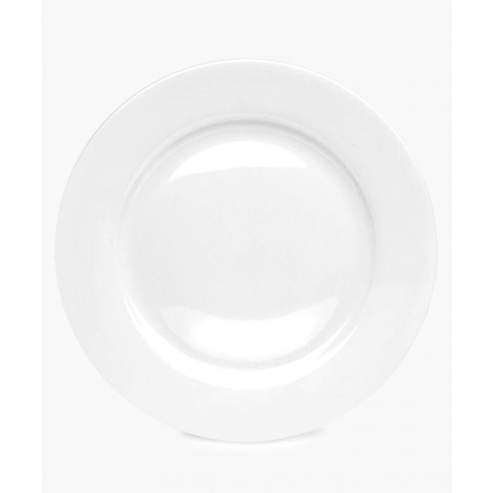 Image for 4pc Serendipity plain white bone china dinner plates 10.5