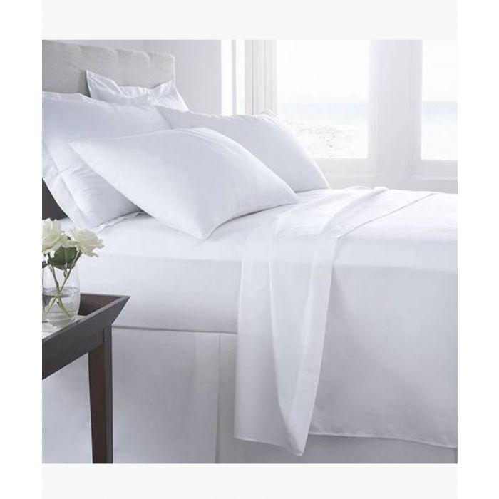 Image for White super king flat sheet