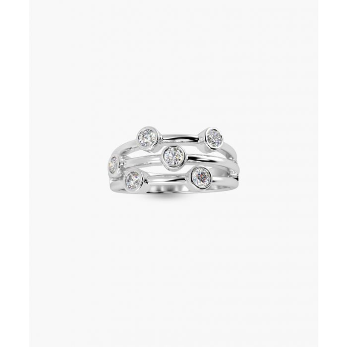 Image for 18k white gold and diamond bubble ring