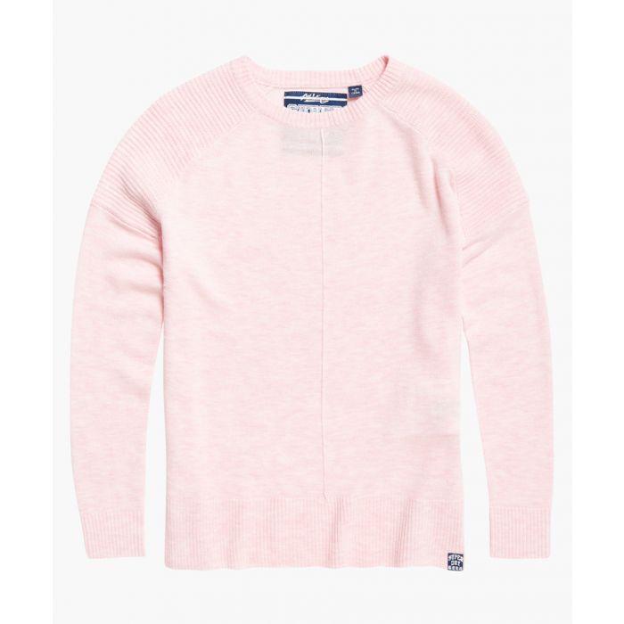 Image for Bria pink wool blend raglan knit jumper