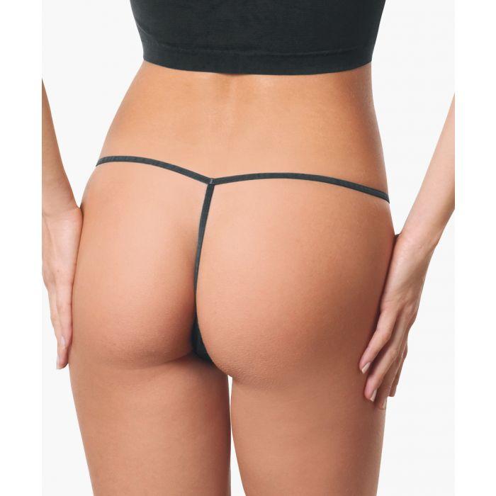 Image for Black tanga thong