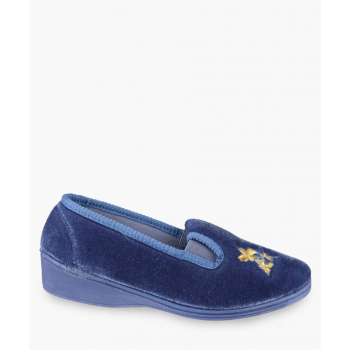 Image for Womens blue slippers