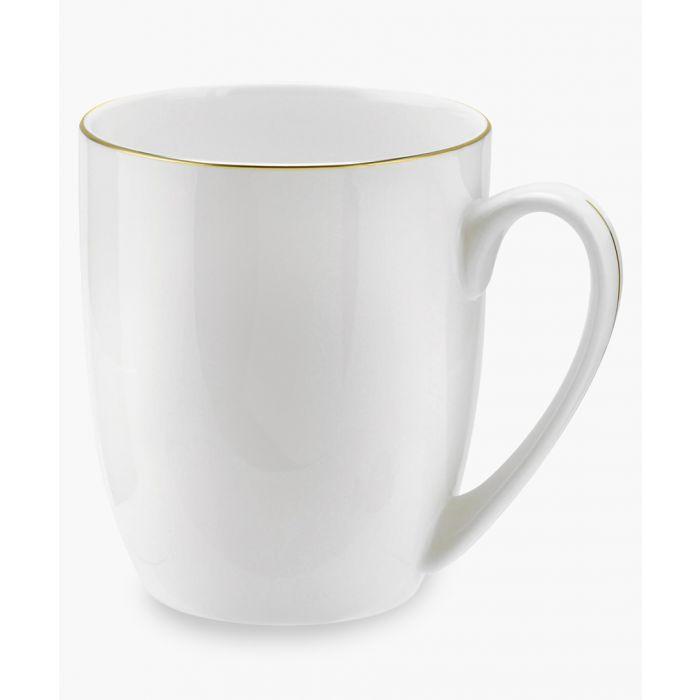 Image for 4pc Serendipity gold-tone band bone china barrel shape mugs