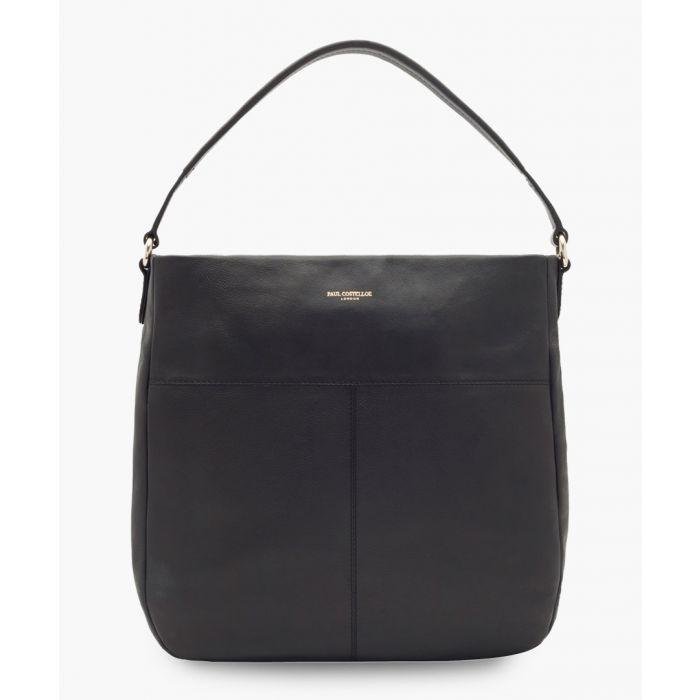 Image for Merida black leather bag