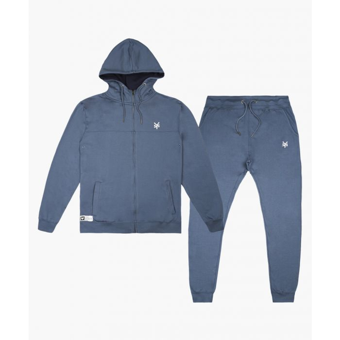 Image for 2pc Denim blue zip-up hoodie and trousers set