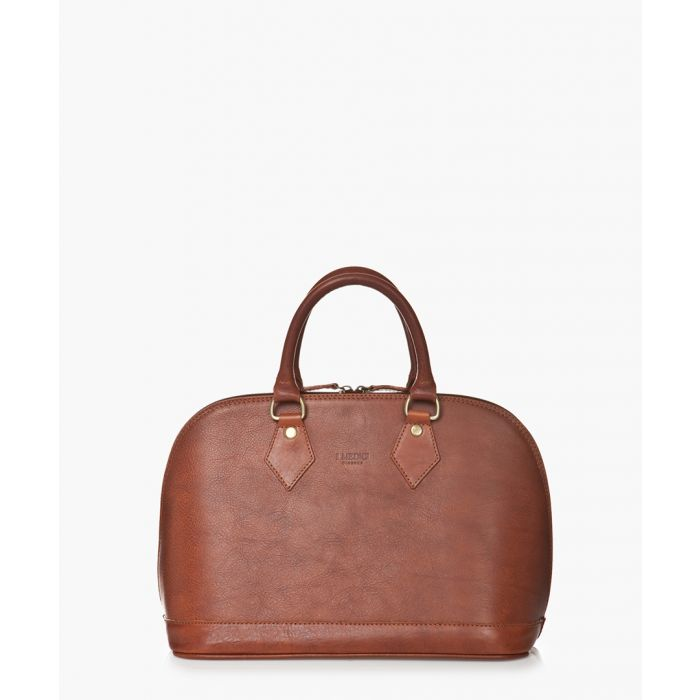 Image for Brown leather grab bag