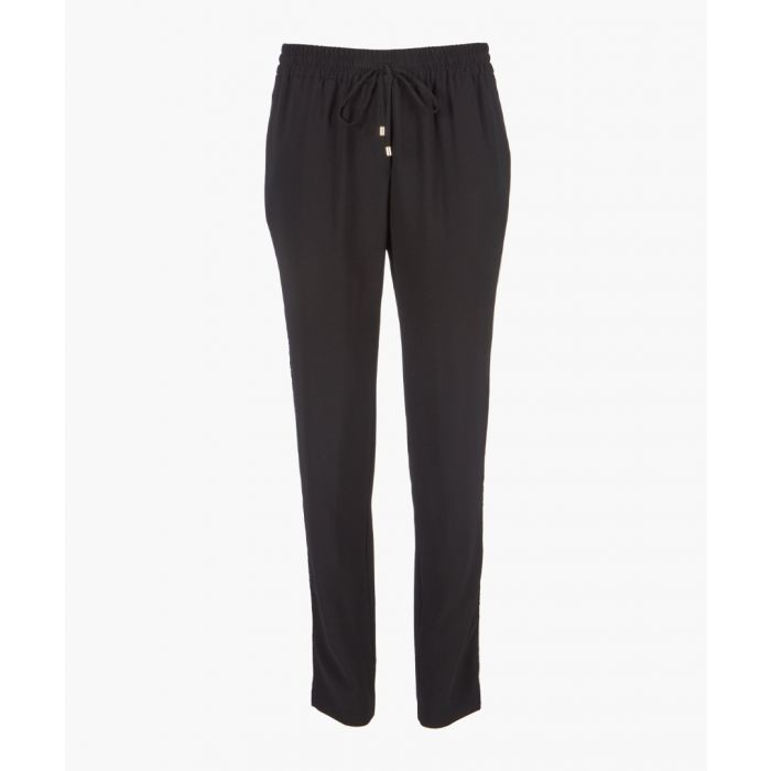 Image for Black drawstring trousers