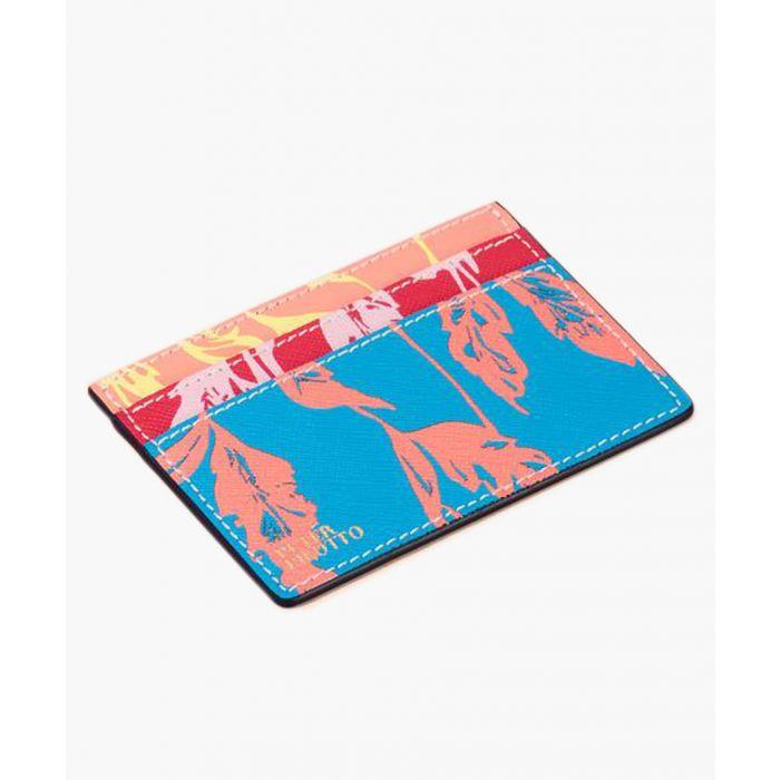 Image for Multi-coloured leather cardholder