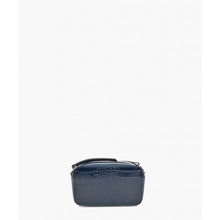 Image for Navy leather shoulder bag
