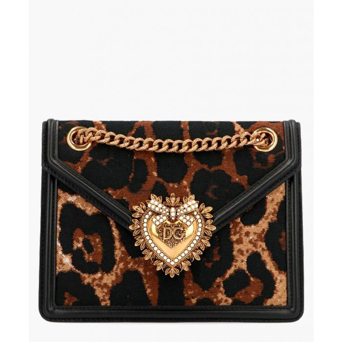 Image for Devotion leopard print jacquard medium shoulder bag