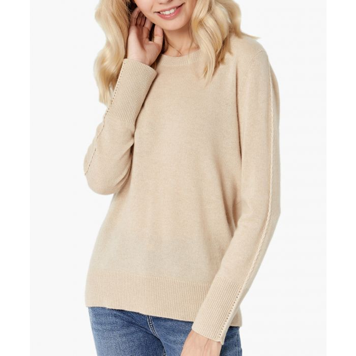 Image for Sand pure cashmere jumper