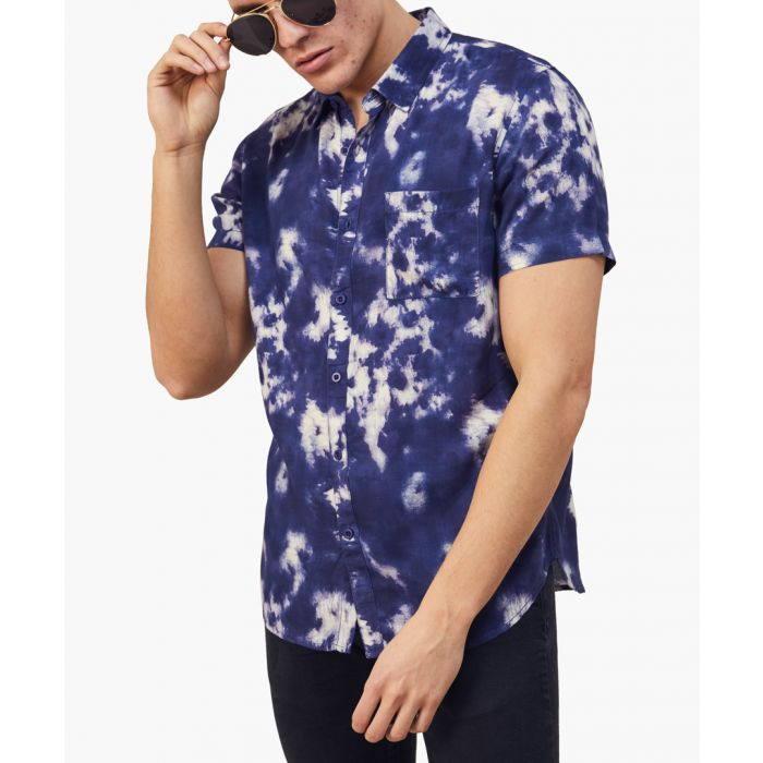 Image for Printed slim fit crop sleeved shirt