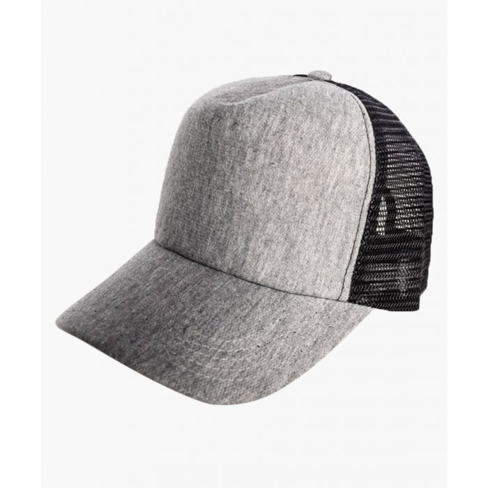 Image for Grey knit trucker hat