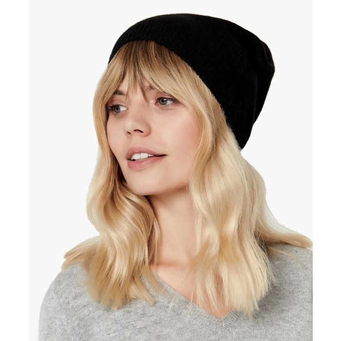 Image for Black pure cashmere hat