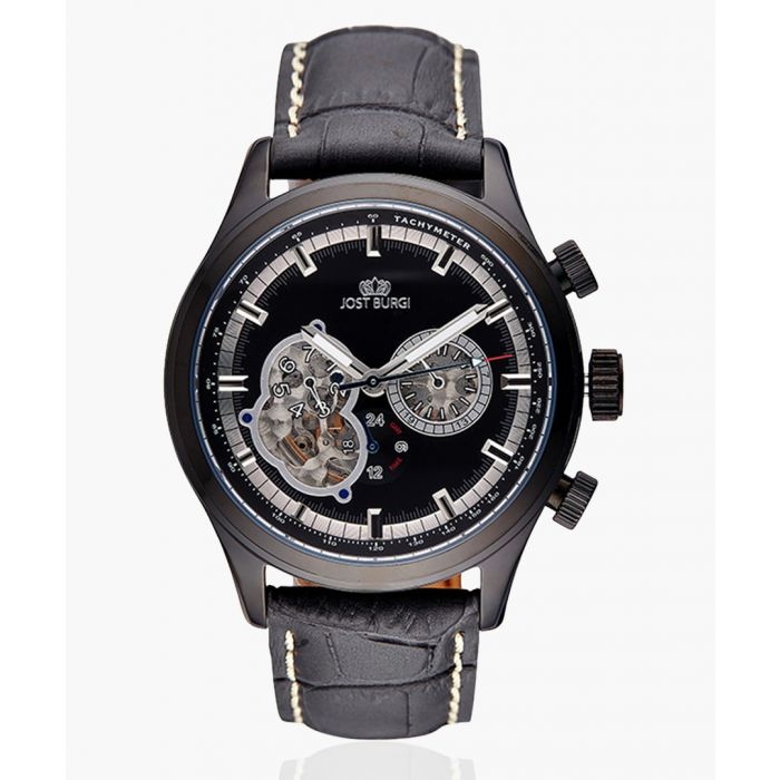 Image for Racing black leather watch