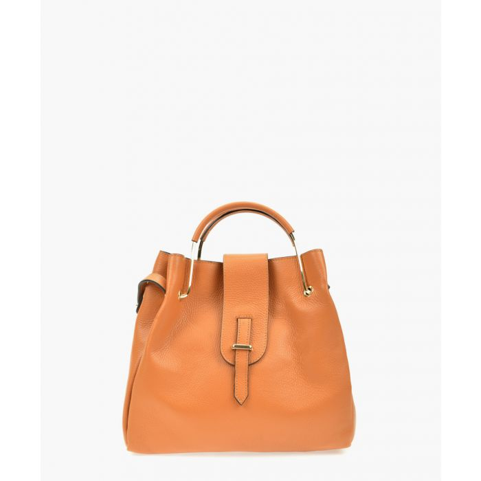 Image for Brown leather shoulder bag