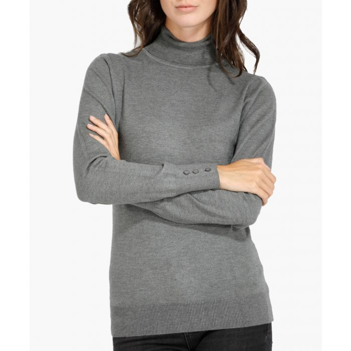 Image for Grey cashmere blend jumper