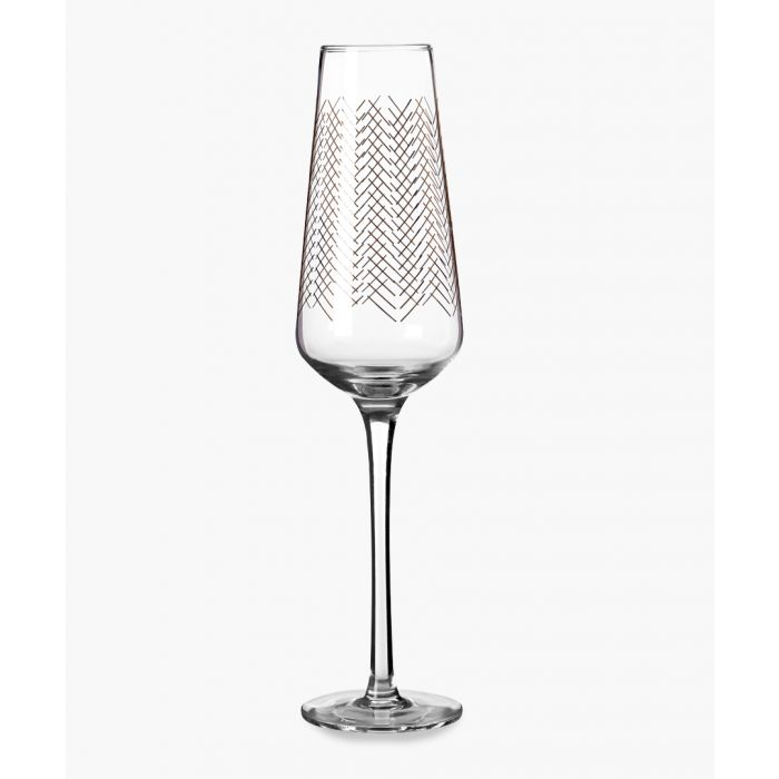Image for 4pc Jazz gold-tone wave designed champagne glasses