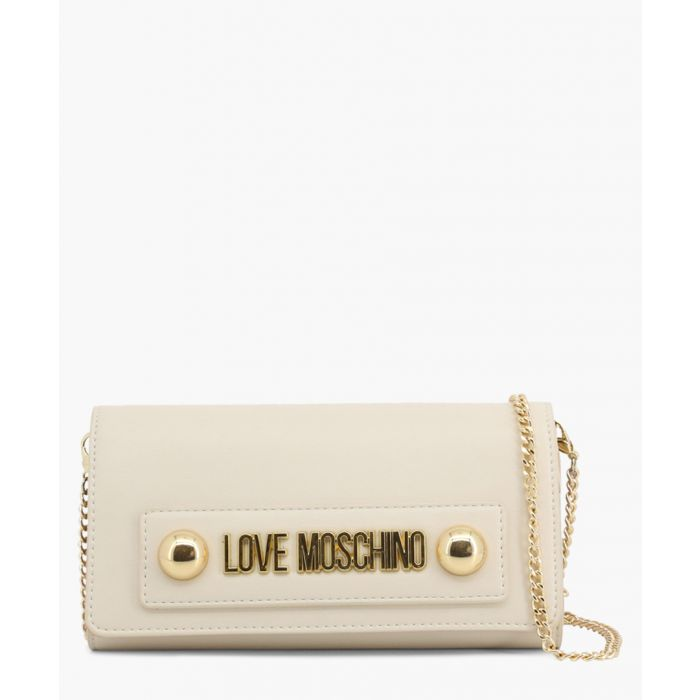 Image for Cream faux-leather bag