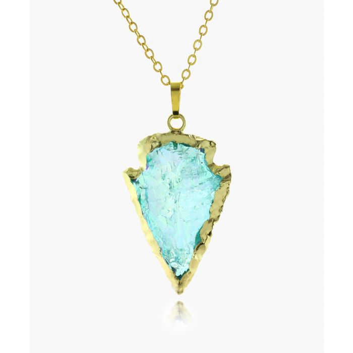 Image for 14k gold-plated blue quartz necklace