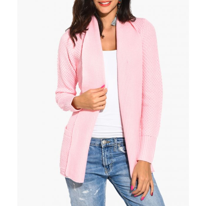 Image for Pink cashmere and mohair blend cardigan