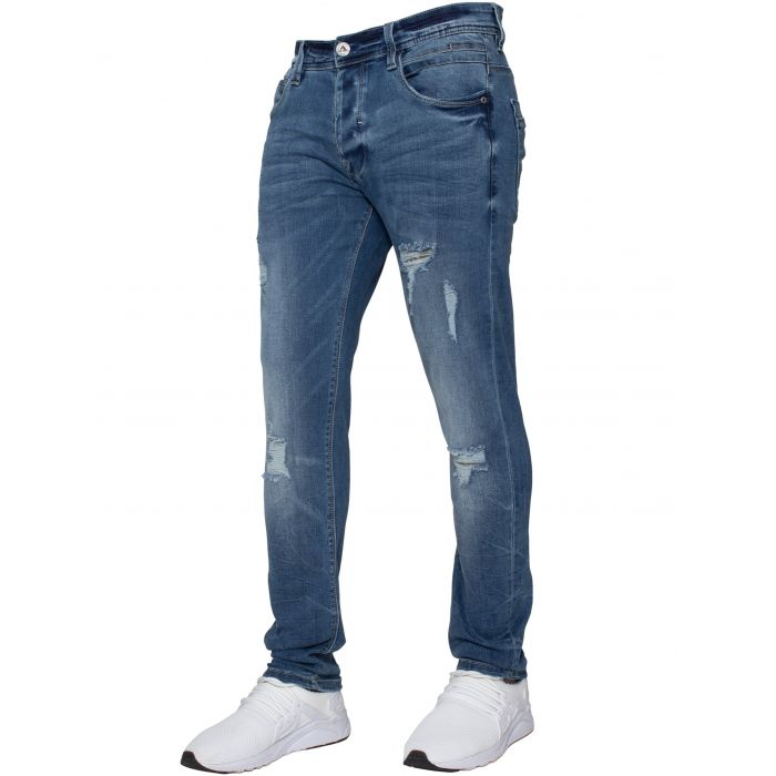 Image for ETO | Mens Designer Hyperstretch Skinny Fit Distressed Jeans