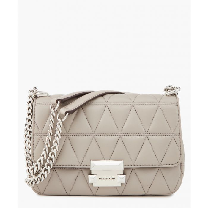 Image for Sloan grey quilted leather shoulder bag