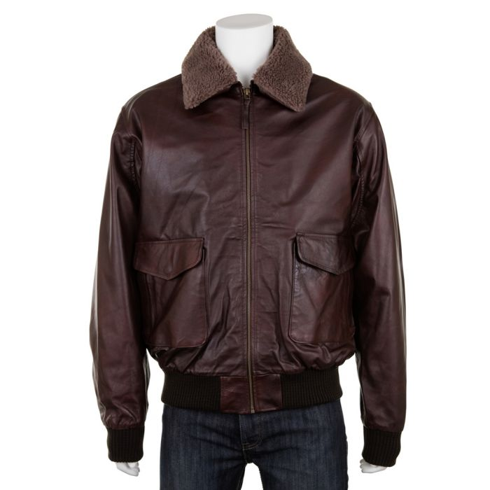 Image for Burgundy leather long sleeve jacket