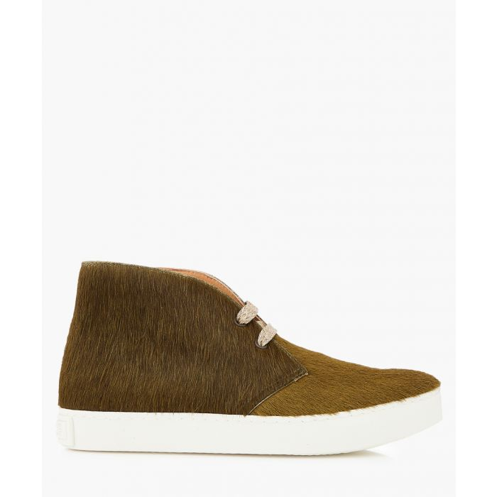 Image for Jungle khaki leather desert boots