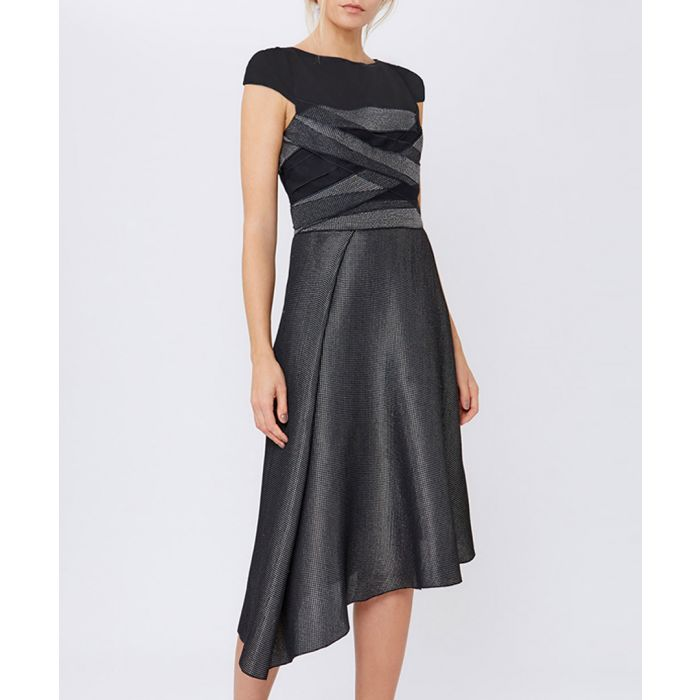 Image for Light grey wool blend dress
