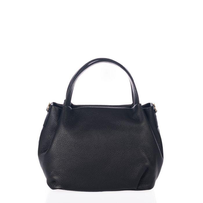 Image for Taro black leather grab bag
