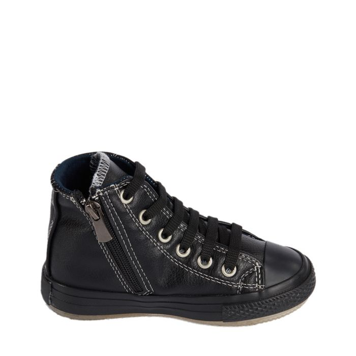 Image for Black zip-up sneakers