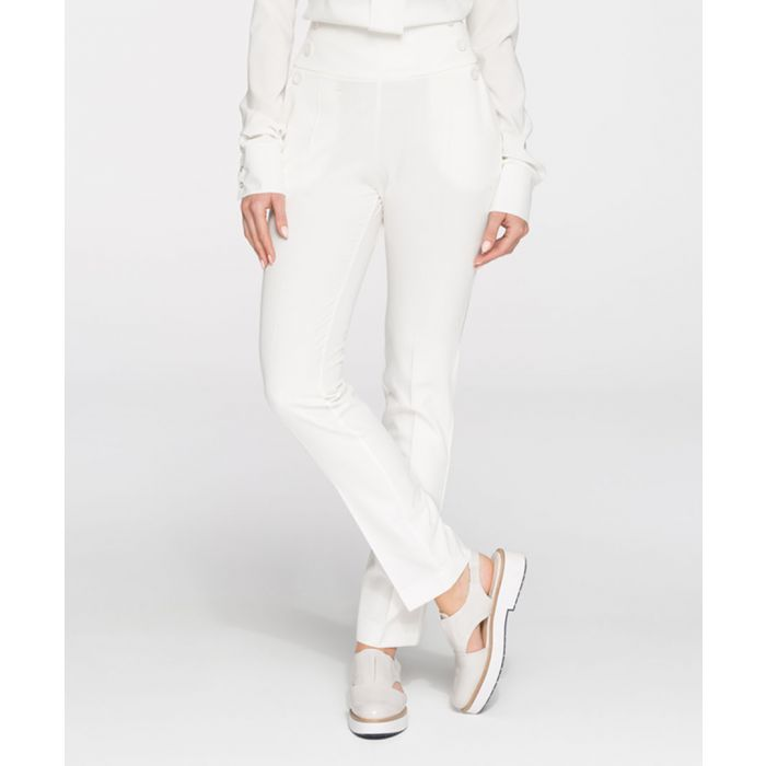 Image for Ecru straight trousers