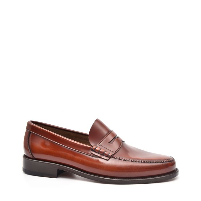 Image for Mens Brown leather loafers