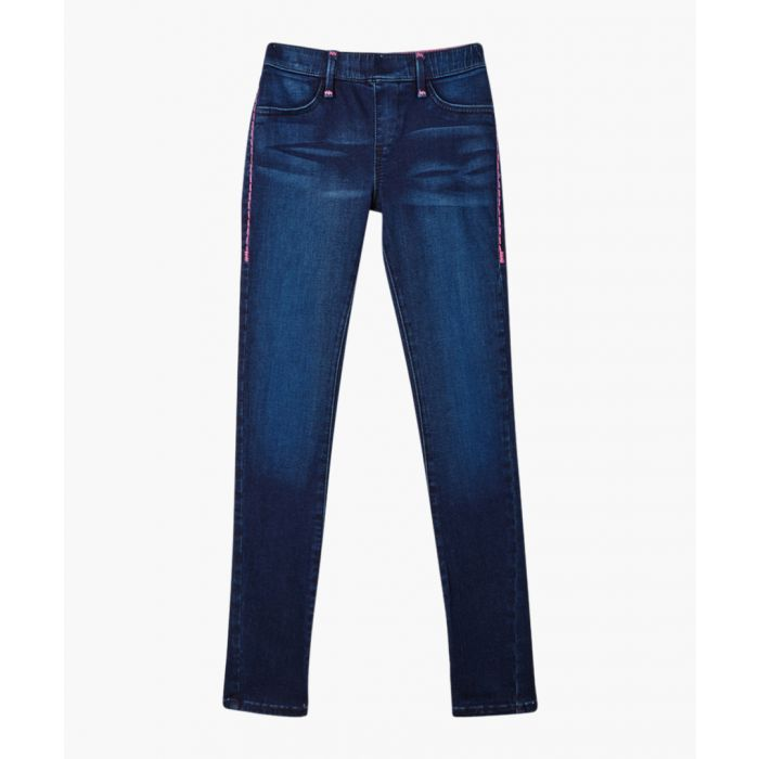 Image for Girls Casey blue pure cotton jeans