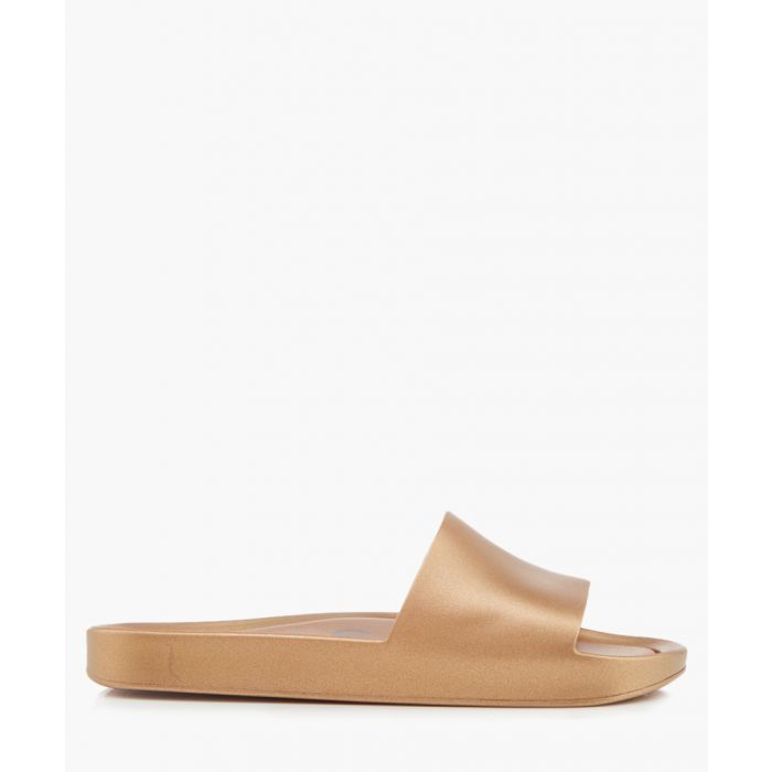 Image for Shine gold-tone rubber sandals