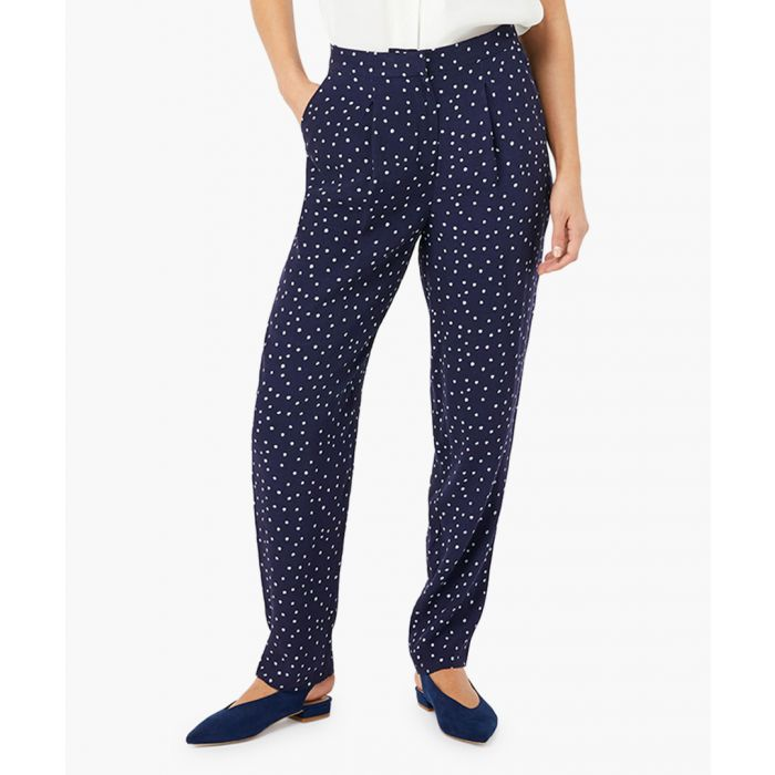 Image for Sydney navy spotted trousers