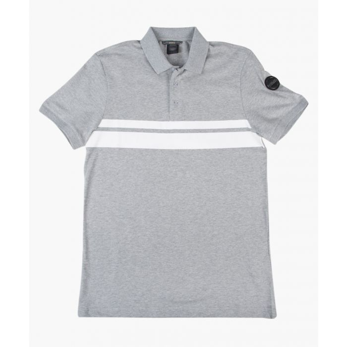 Image for Grey cotton blend polo shirt