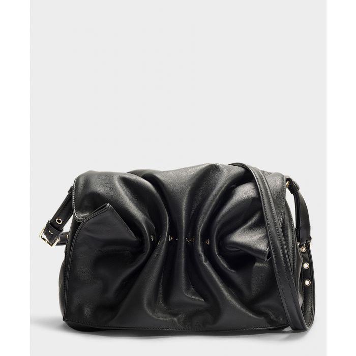 Image for Bloomy black leather shoulder bag