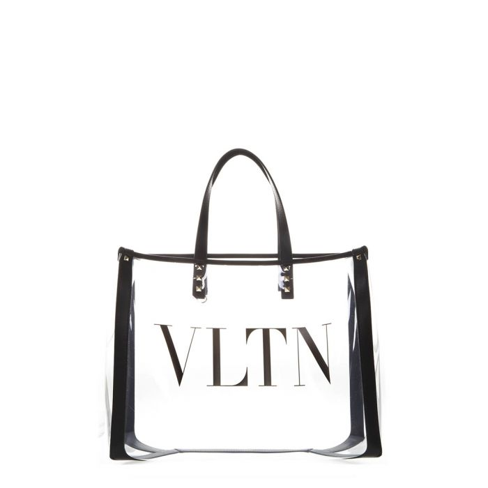 Image for VLTN Plexy small clear tote bag